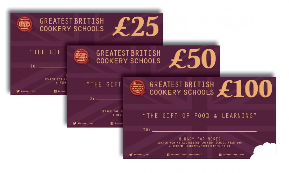 Cookery School Gift Vouchers