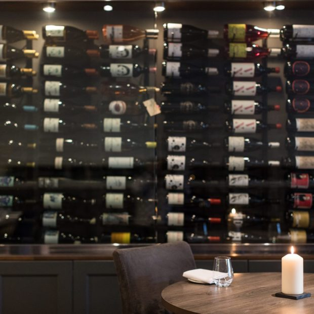 Carters Restaruant Wine Wall
